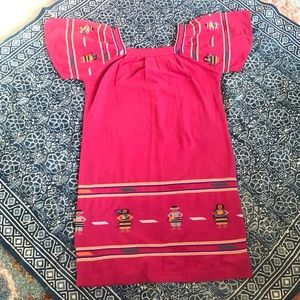 Vintage Oaxacan South Ameican Embroidered Dress